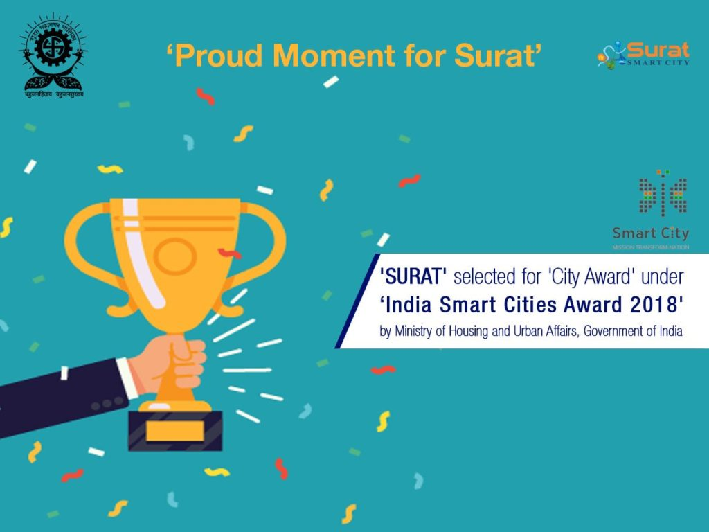India Smart Cities Award 2018 Surat Smart City Selected For City