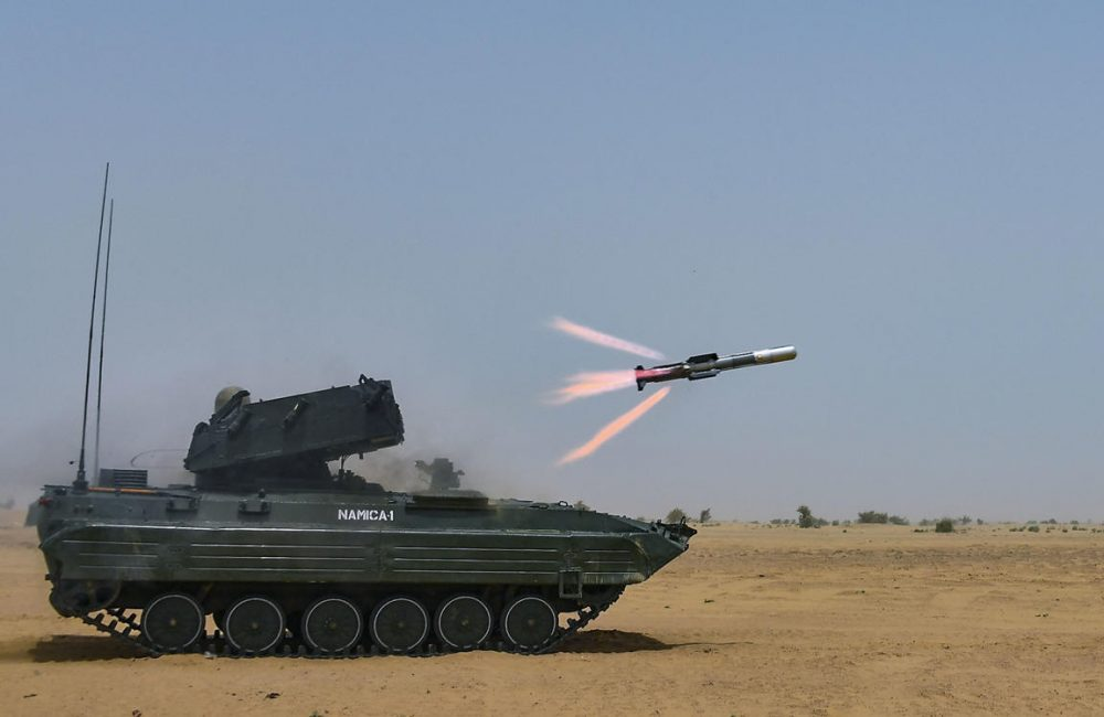 DRDO Successfully conducts a final trial of Nag Anti-Tank Guided Missile