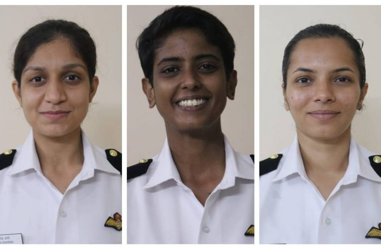 Indian Navy deploys its first Batch of Women Pilots.