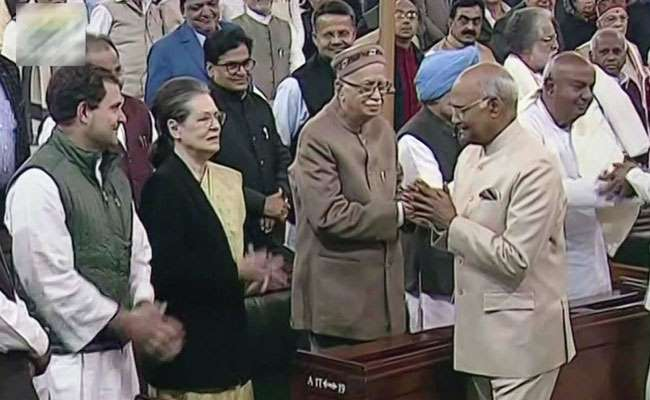 Sonia Gandhi Thumped Desk For President Kovind, Chatted With LK Advani