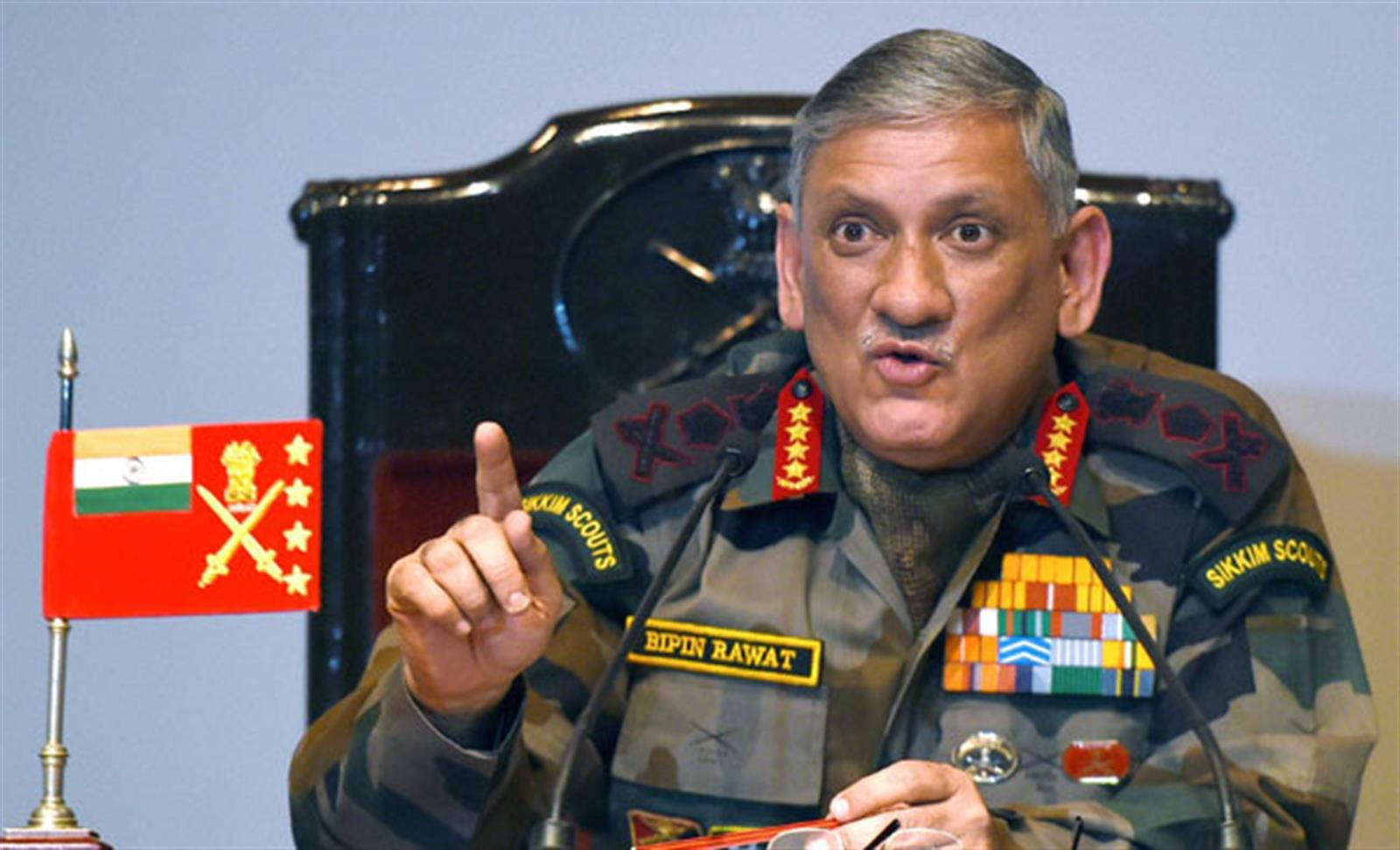 China says Indian Army chief's unconstructive comments will hurt peace with India