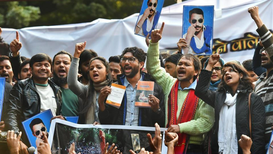 Jignesh Mevani protest event rallies more empty chairs than support