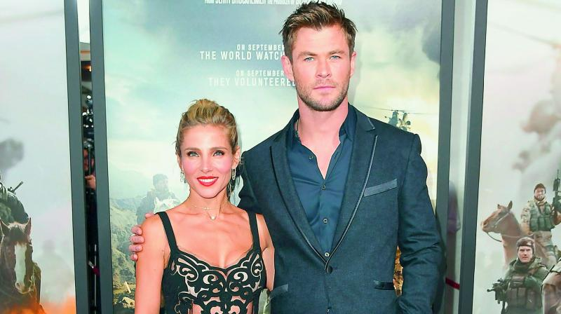 Chris Hemsworth hits the beach with wife