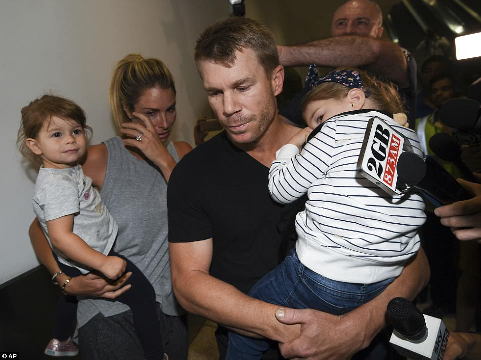 David Warner humbled with show of support after ball-tampering row