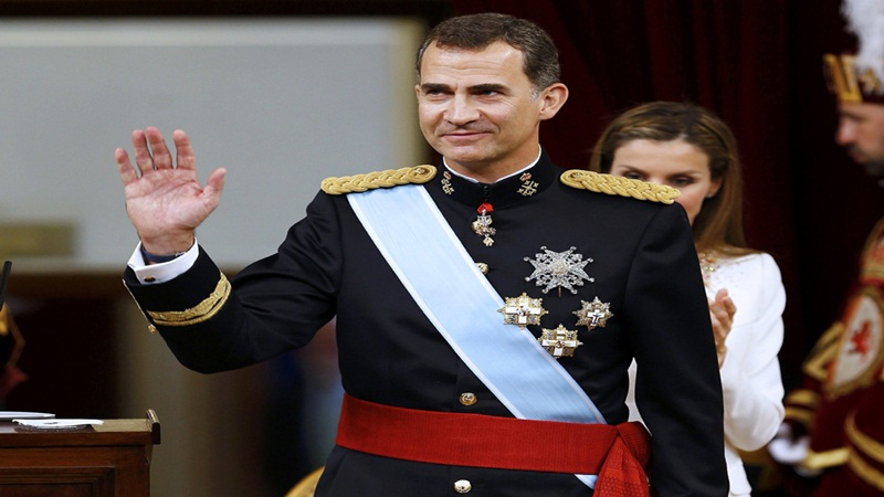 Spanish King Felipe VI will  attend a FIFA World Cup match between Spain and Russia