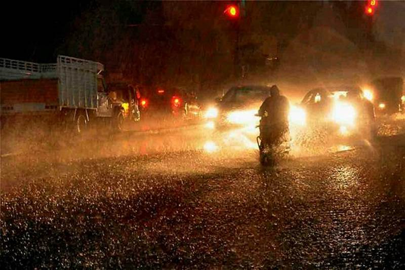 Rain in parts of Telangana state on 4th July 2018