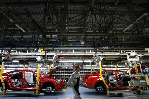 A file photo of Mazda Motor production line. Photo: Bloomberg