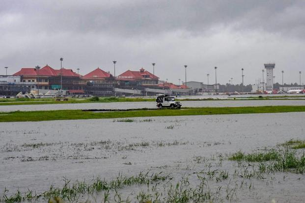 Due to heavy rains in Kerala, operations at Kochi airport have been suspended till Saturday. Photo: PTI