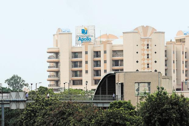 The Apollo Hospital in Delhi's Sarita Vihar. Apollo Hospitals' profitability is on the recovery path, helped by a reduction in losses in new hospitals and ventures. Photo: HT