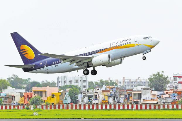 On Thursday, Jet Airways shares closed at Rs 300, up 6.05% from the previous close. Photo: Reuters