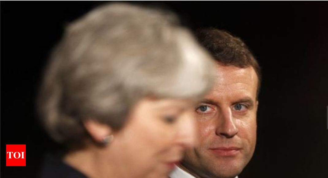 Brexit on the menu at May, Macron dinner