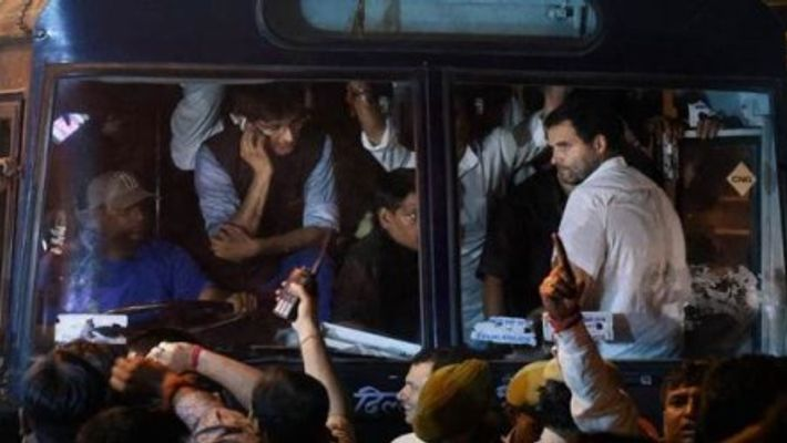 """Rahul Gandhi Protest Against CBI Move Includes """"Sit-In"""" At Police Station"""