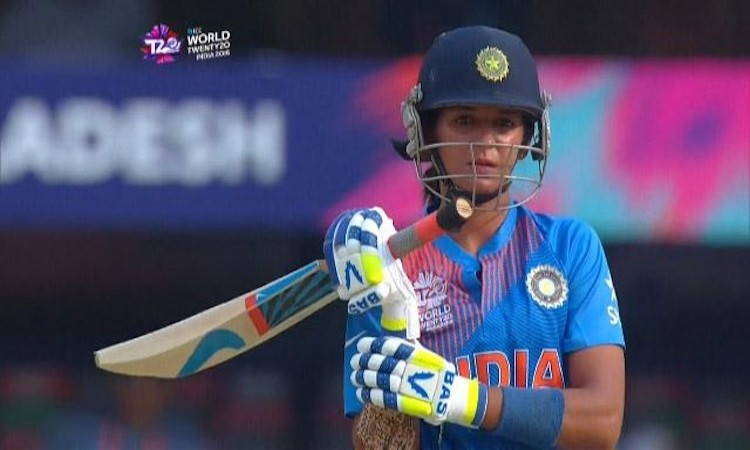 India start WWT20 with a Bang, Harmanpreet Kaur is PLAYER OF THE MATCH.