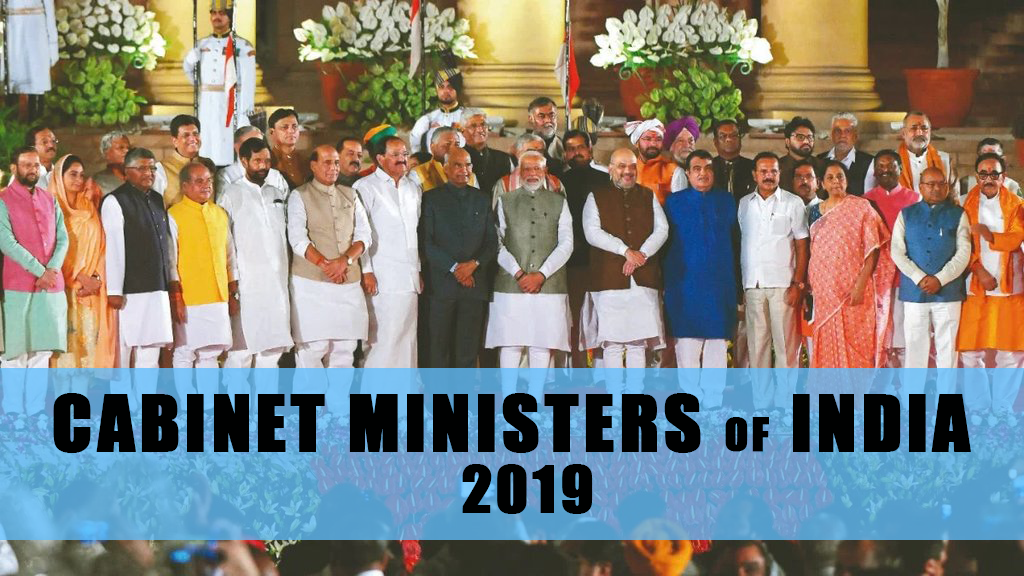 Indian Cabinet Ministers 2019