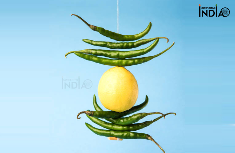 Hanging Lemon and Chillies
